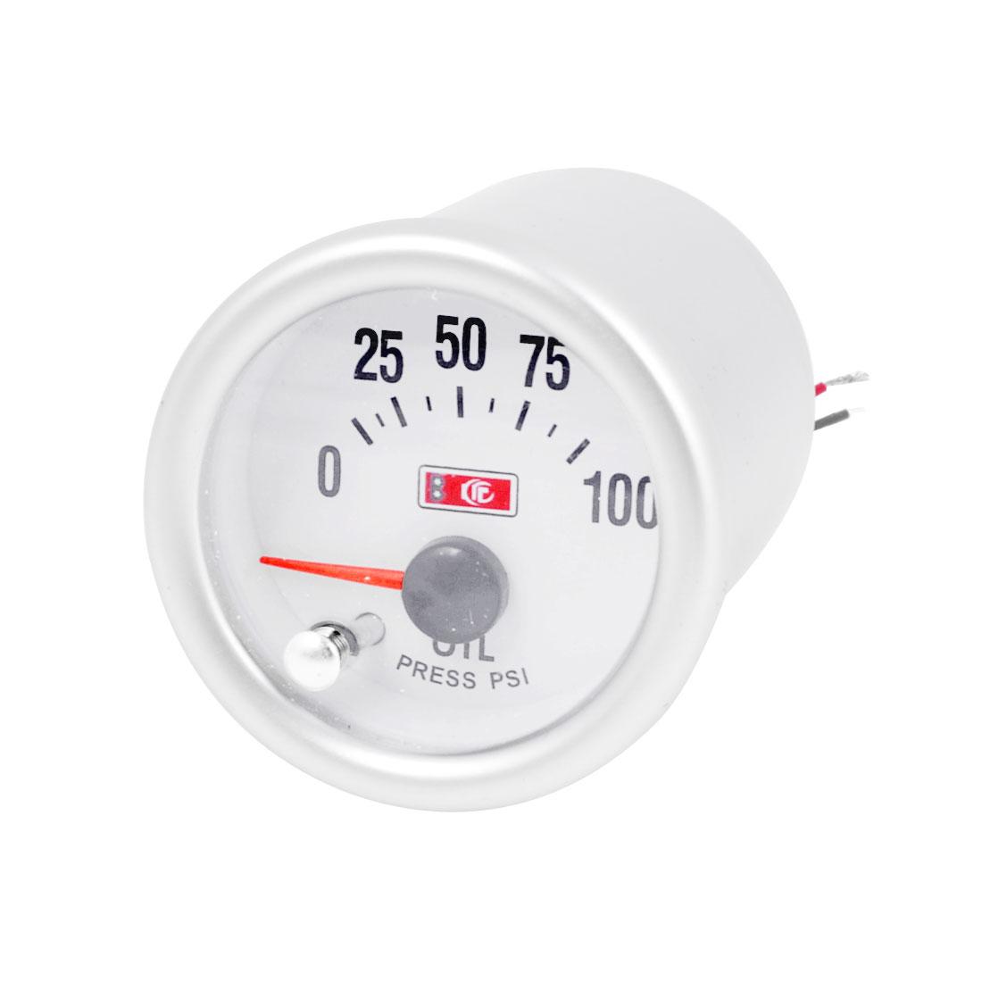 Car 53mm Mounted Dia 0-100Psi 7 Color Background Light Oil Pressure Gauge Meter
