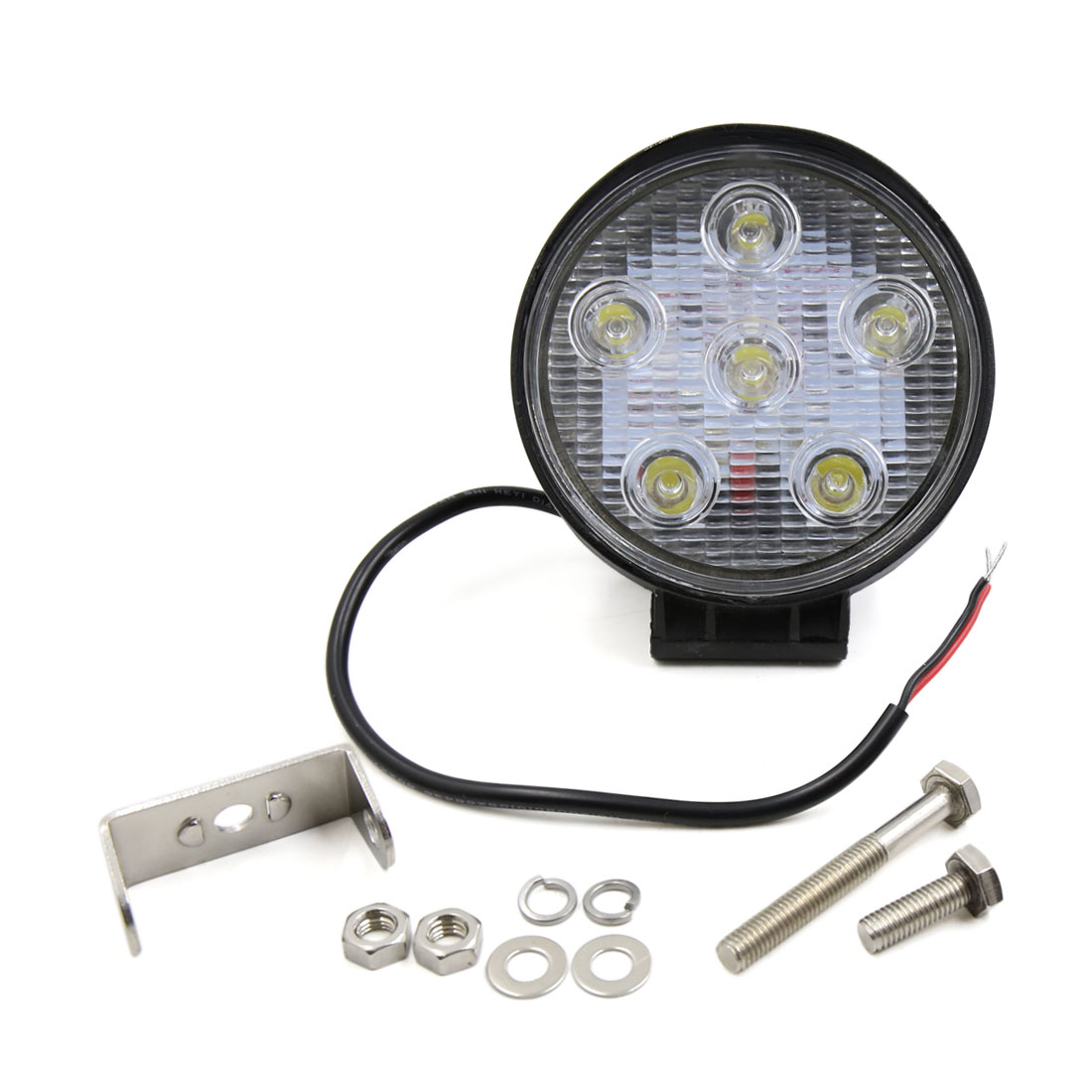 18W 6 LED Round Shape Flood Fog Driving Work Light Lamp Truck Roof Bar Off-Road Internal