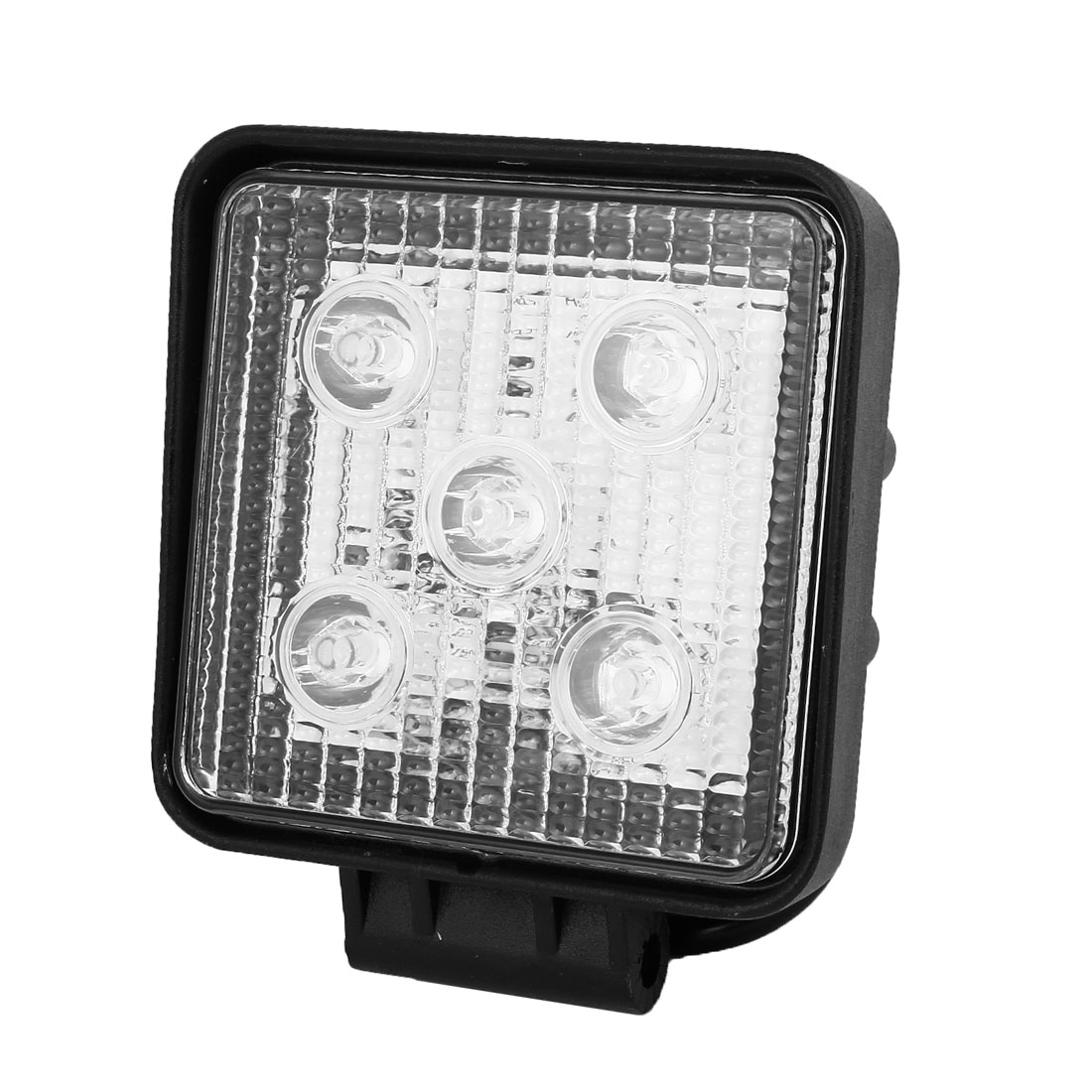 Square 15W White 5 LED Flood Work Light Head Lamp Offroad SUV ATV Internal