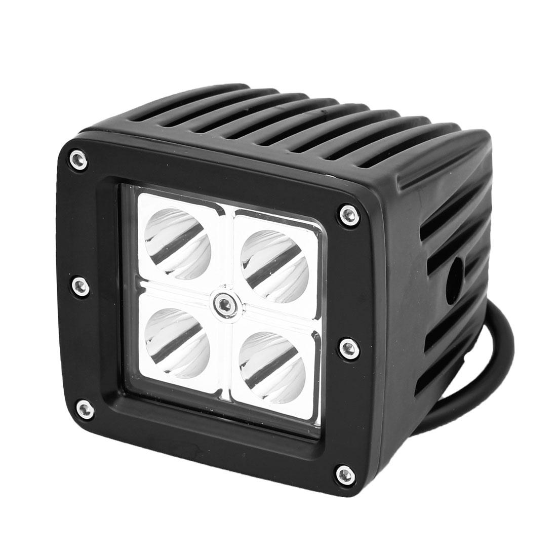 16W 4 LED Off Road Driving Light Spot Beam Work Reverse Light White Internal