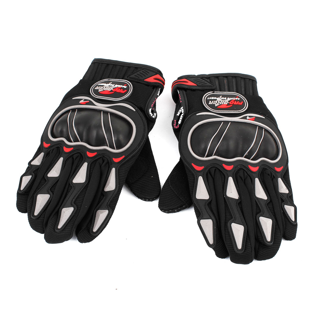 Mens Black Motorcycle Racing Bike Sport Cycling Motorcycle Full Finger Gloves L