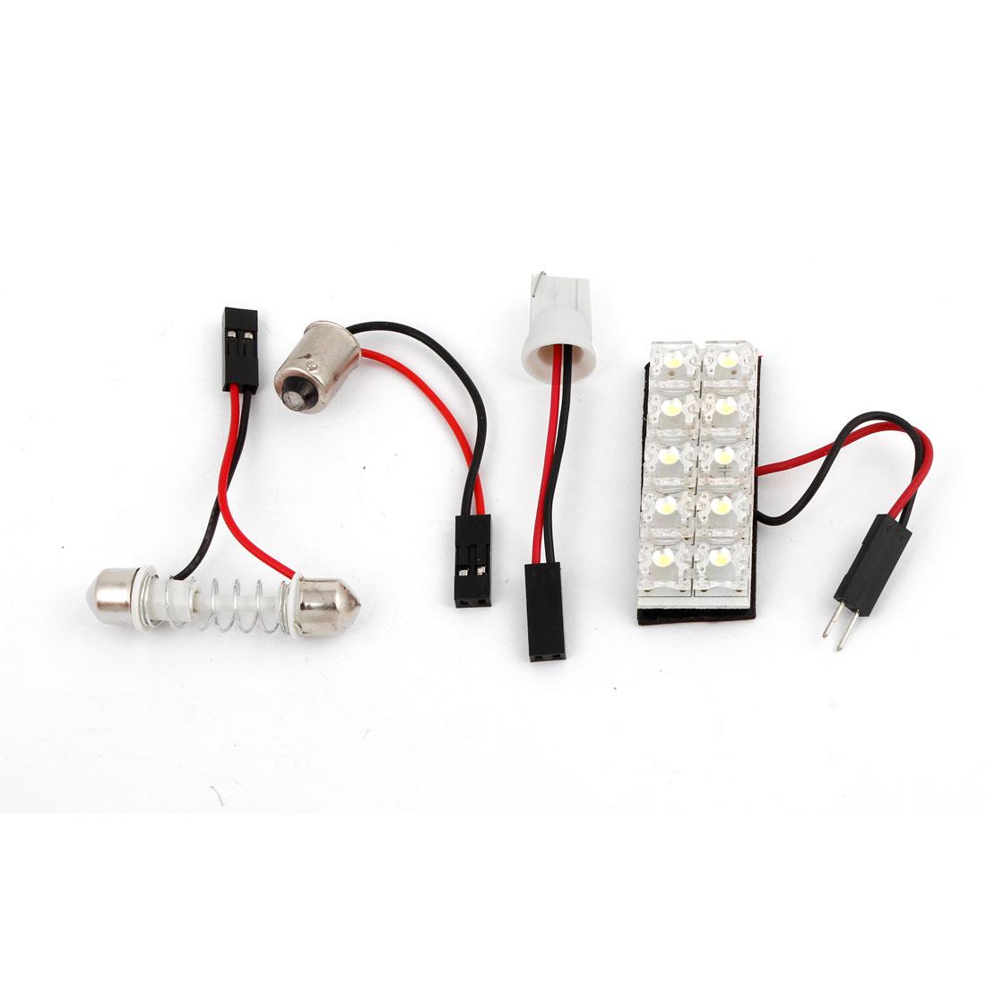 Auto Internal 10-LED Roof Map Lamp Bulb Panel Light White w T10 BA9S Festoon Base 12V