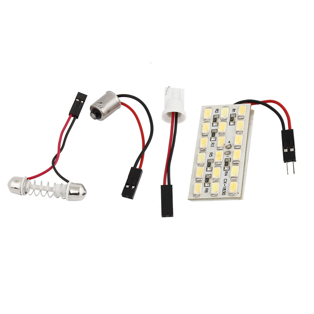 Auto 18 5630 SMD LED Map Reading Light White 12V w T10 BA9S Festoon Adapter Internal