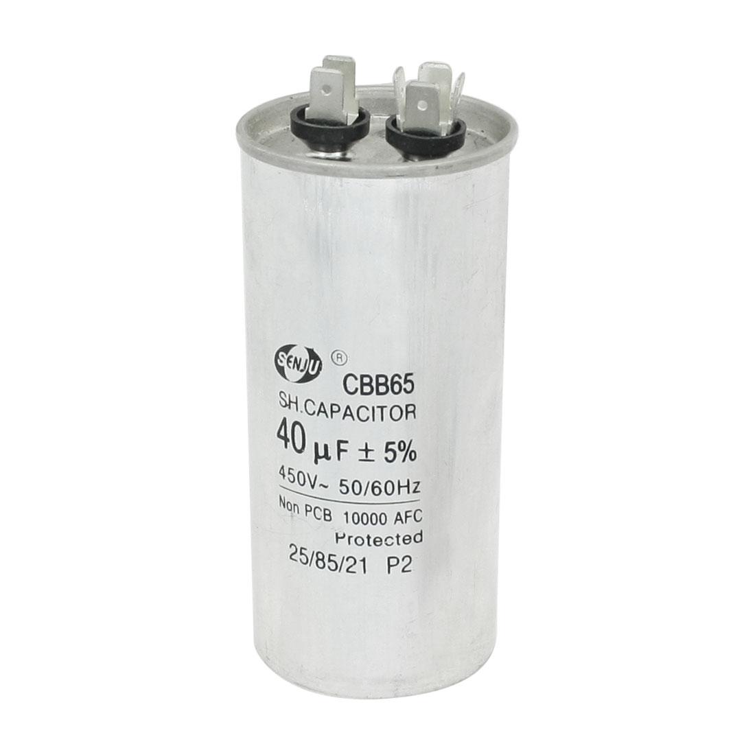CBB65 40uF 5% Tolerance Compressor Motor Running Capacitor AC 450V