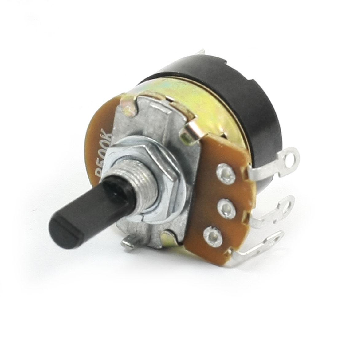 Top Adjustment Single Turn D Shape Shaft 5 Pins Pot Potentiometer B500K
