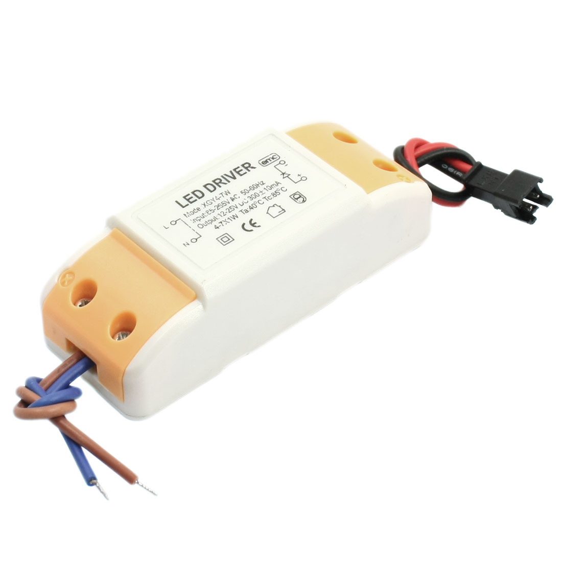 AC 85-265V to DC 12-25V 7W LED Driver Power Supply Transformer Adapter