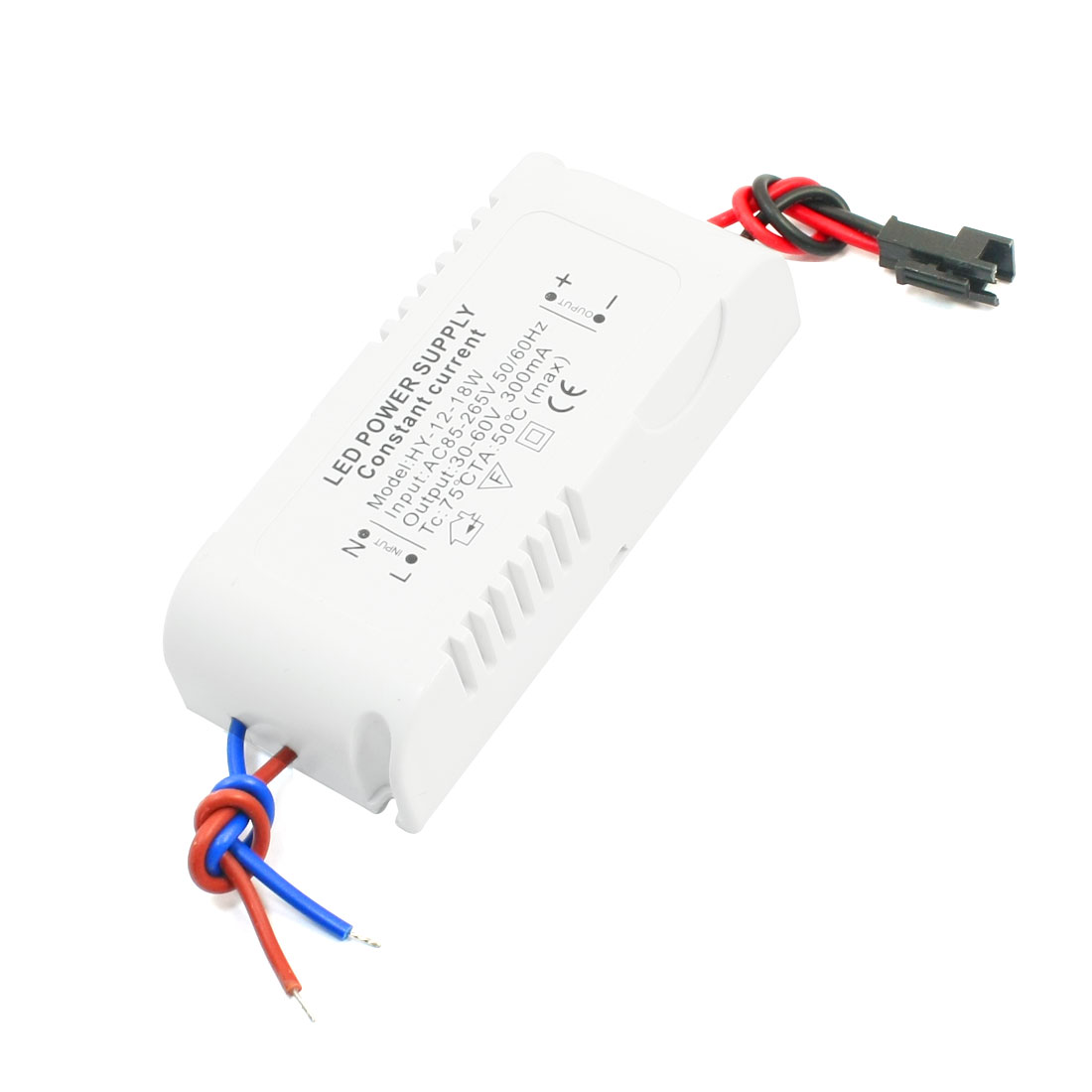 AC 85-265V Plastic Shell Power Supply Driver for DC 30-60V 18W LED Light