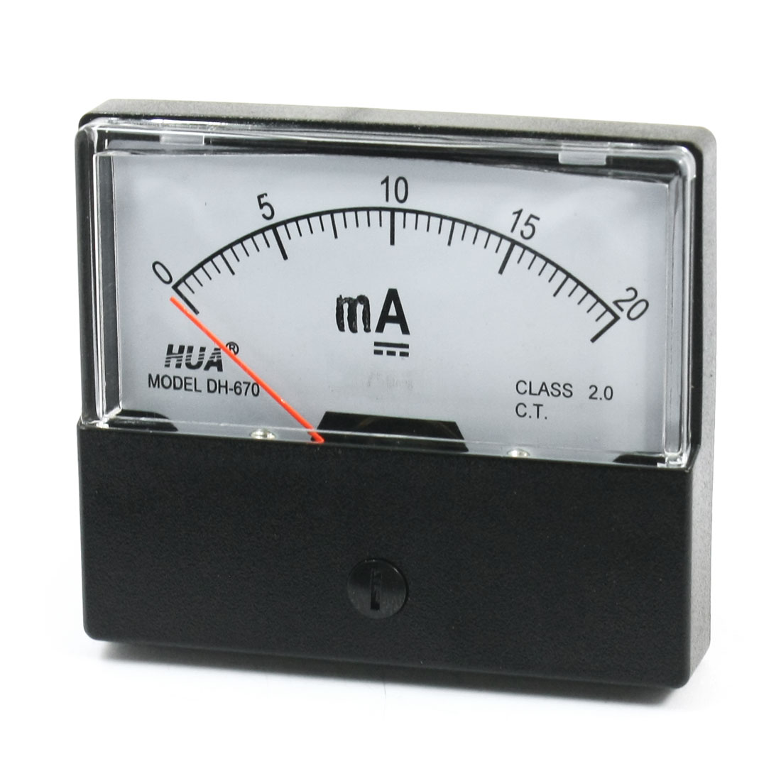 Class 2 DC 0-20mA Analog Panel Meter Pointer Ammeter Amperemeter DH-670
