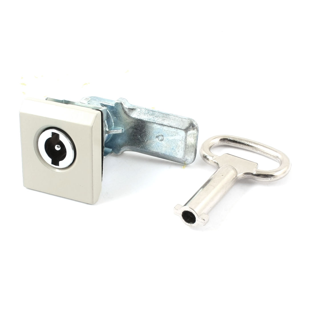 Office Drawer Toolbox Part Security Plane Cam Lock Silver Tone