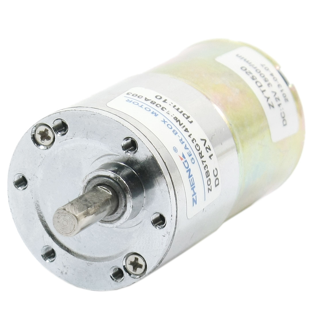 6mm Shaft Dia 10R/Min Output Speed Geared Box Motor DC 12V