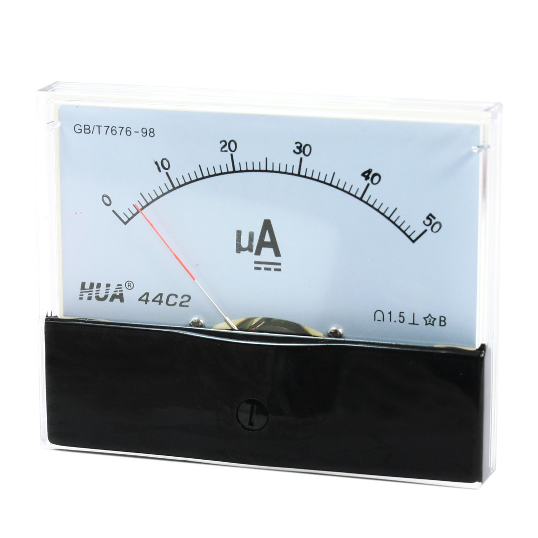 Class 1.5 DC 0-50uA Analog Panel Meter Pointer Ammeter Amperemeter 44C2