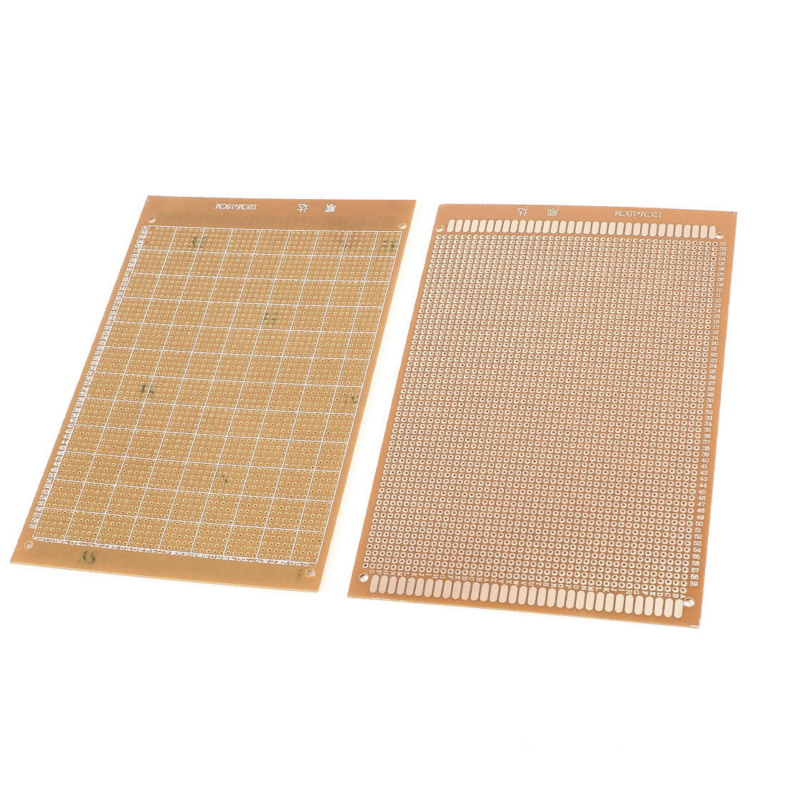 2Pcs 12cm x 18cm Electronic DIY Universal Single Side Prototype Matrix PCB Printed Circuit Board Stripboard