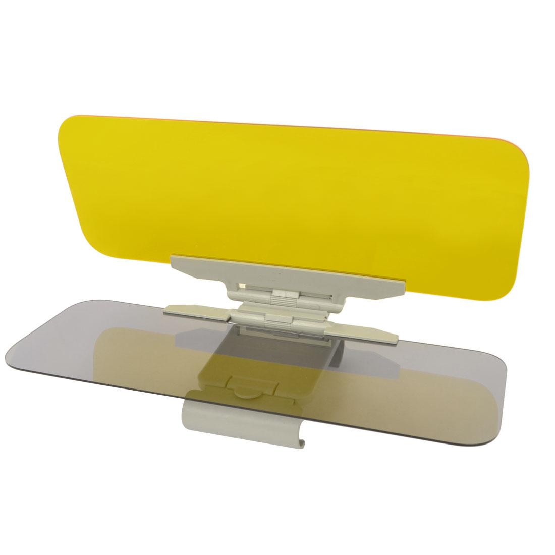 31.5cm x 11.5cm Two Way Plastic Generation Car Day Night Anti-glare Visor Brown