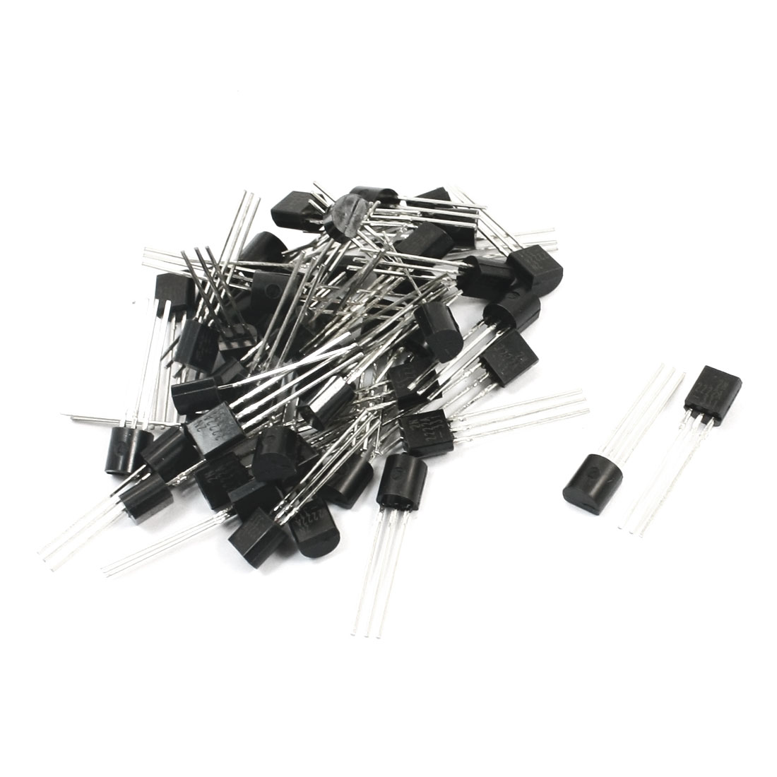 50pcs General Propose 2N2222A 40V 800mA TO-92 Package NPN Transistor