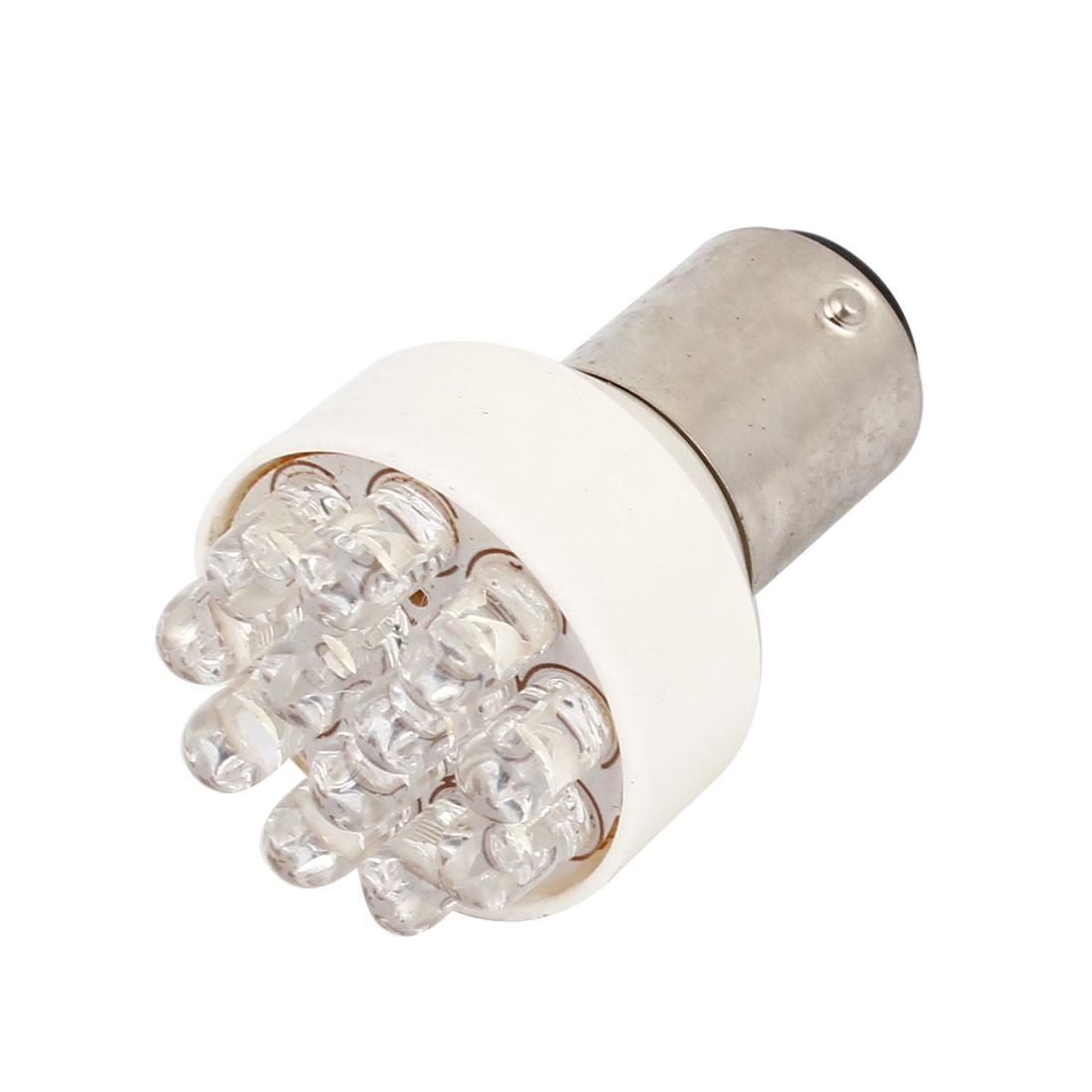 Truck Car White 1157 BAY15D 12 LED Brake Tail Reversing Light Lamp Bulb