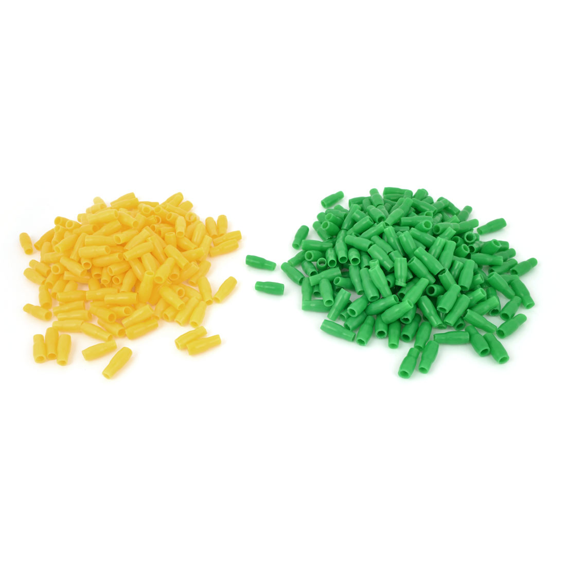 1000pcs Yellow Green 3.5-4mm2 Terminal End Insulated Sleeves Replacement