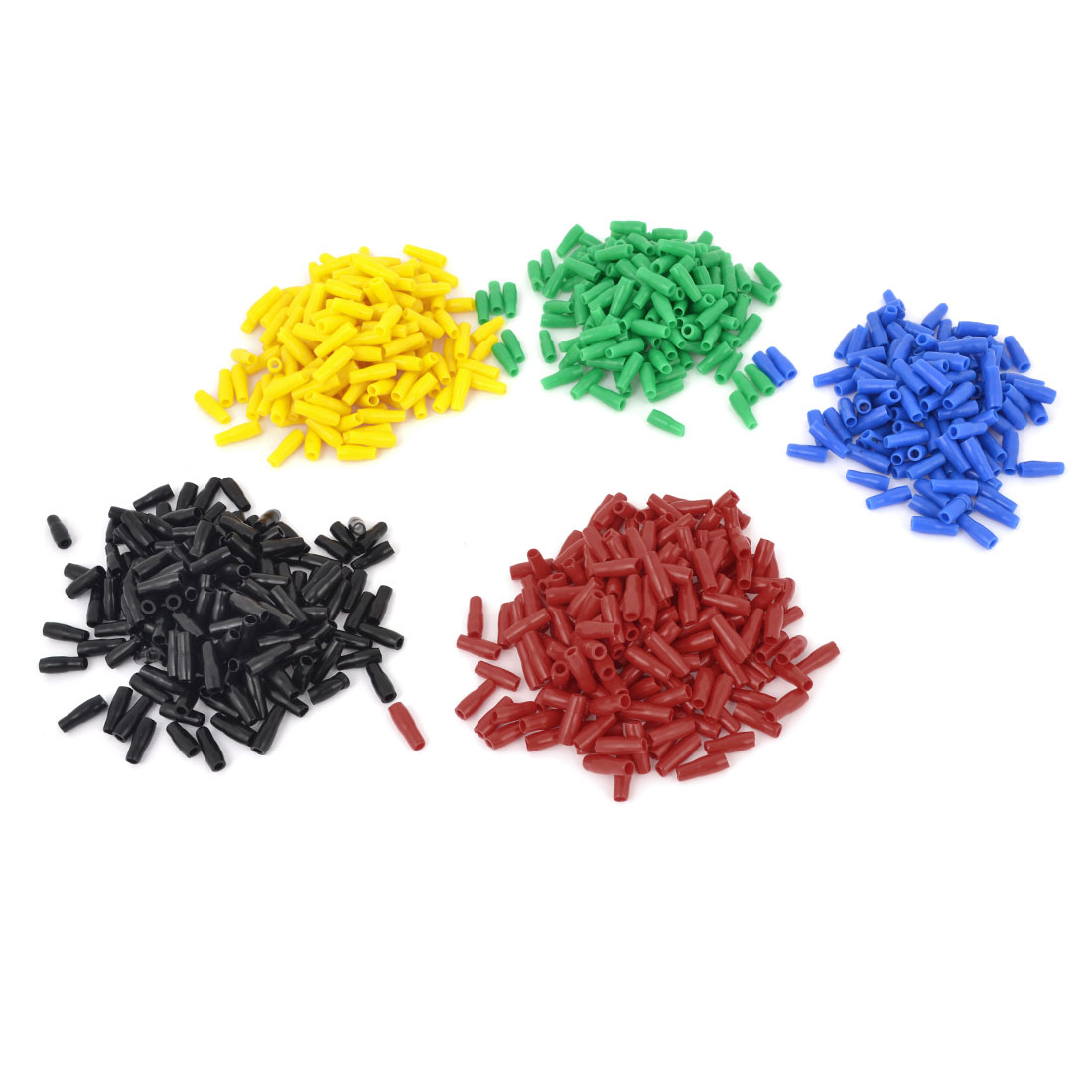 1000pcs Multicolor Soft PVC 5.5-6mm2 Wire Terminal End Insulated Sleeves