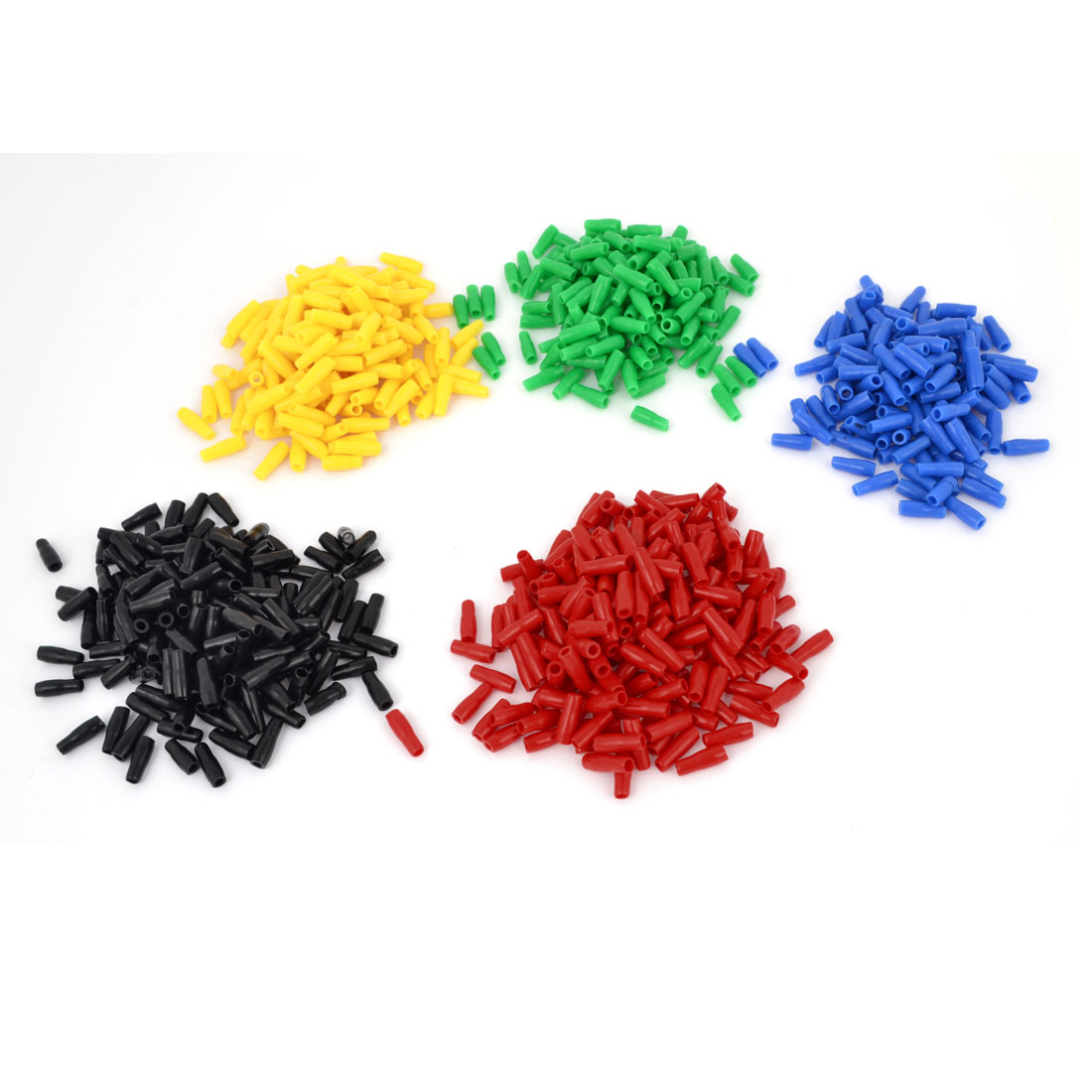 1000 Pieces Multicolor Soft PVC 2-2.5mm2 Wire Terminal End Insulated Sleeves