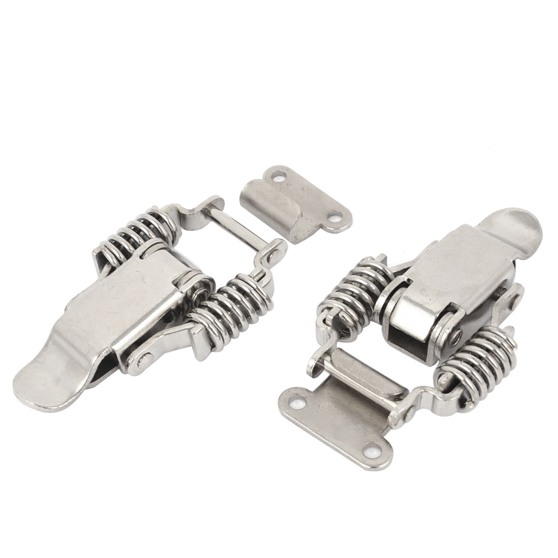 Marine Compression Spring Metal Tensioning Suitcase Draw Latch 2 Pcs