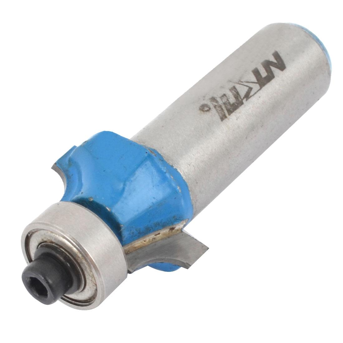 "1/2"" Shank 3/16"" Radius Two Flutes Metal Roundover Router Bit Bearing Cutter"