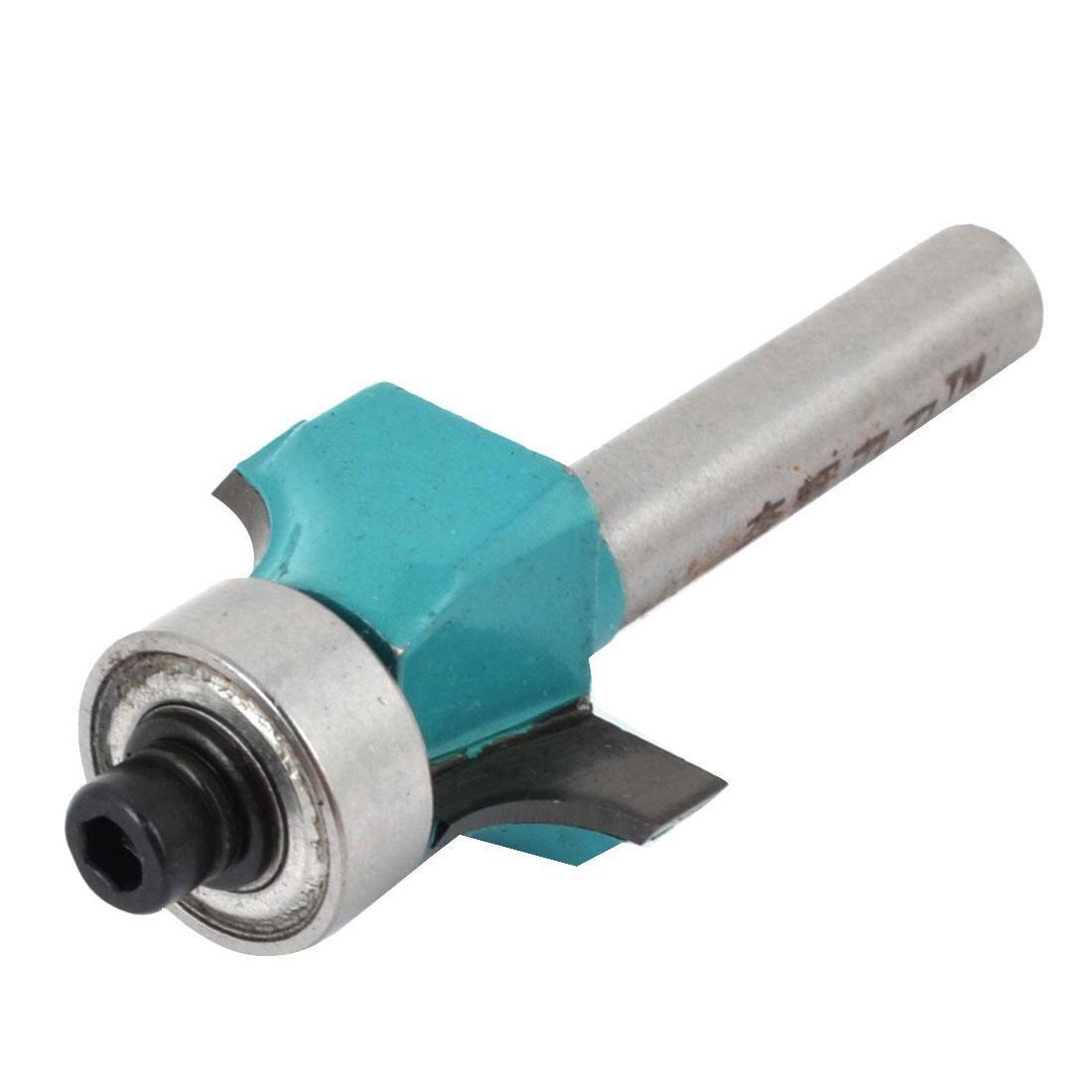 "1/4"" Shank 3/8"" Radius Two Flutes Metal Roundover Router Bit Bearing Cutter"