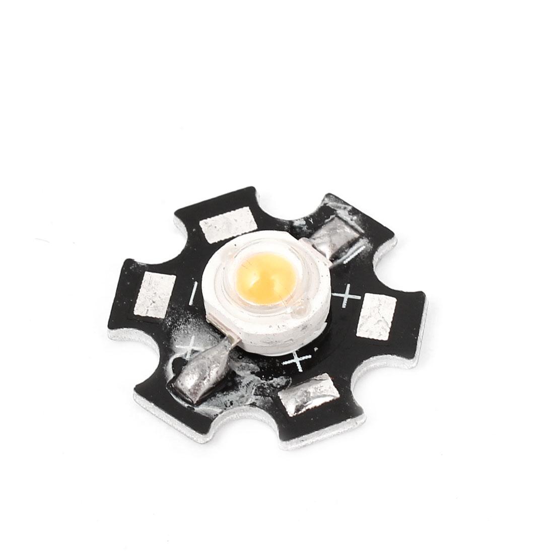 1W 3000-3500K Warm White Light LED Lamp Bead Emitter 110-120LM w Base