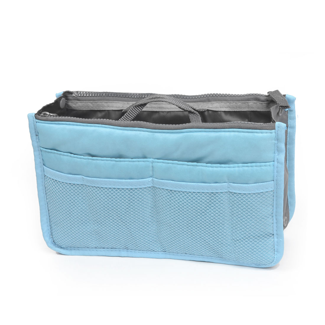 Multi-Pockets Design Purse Phone Storage Bag Pouch Organizer Light Blue