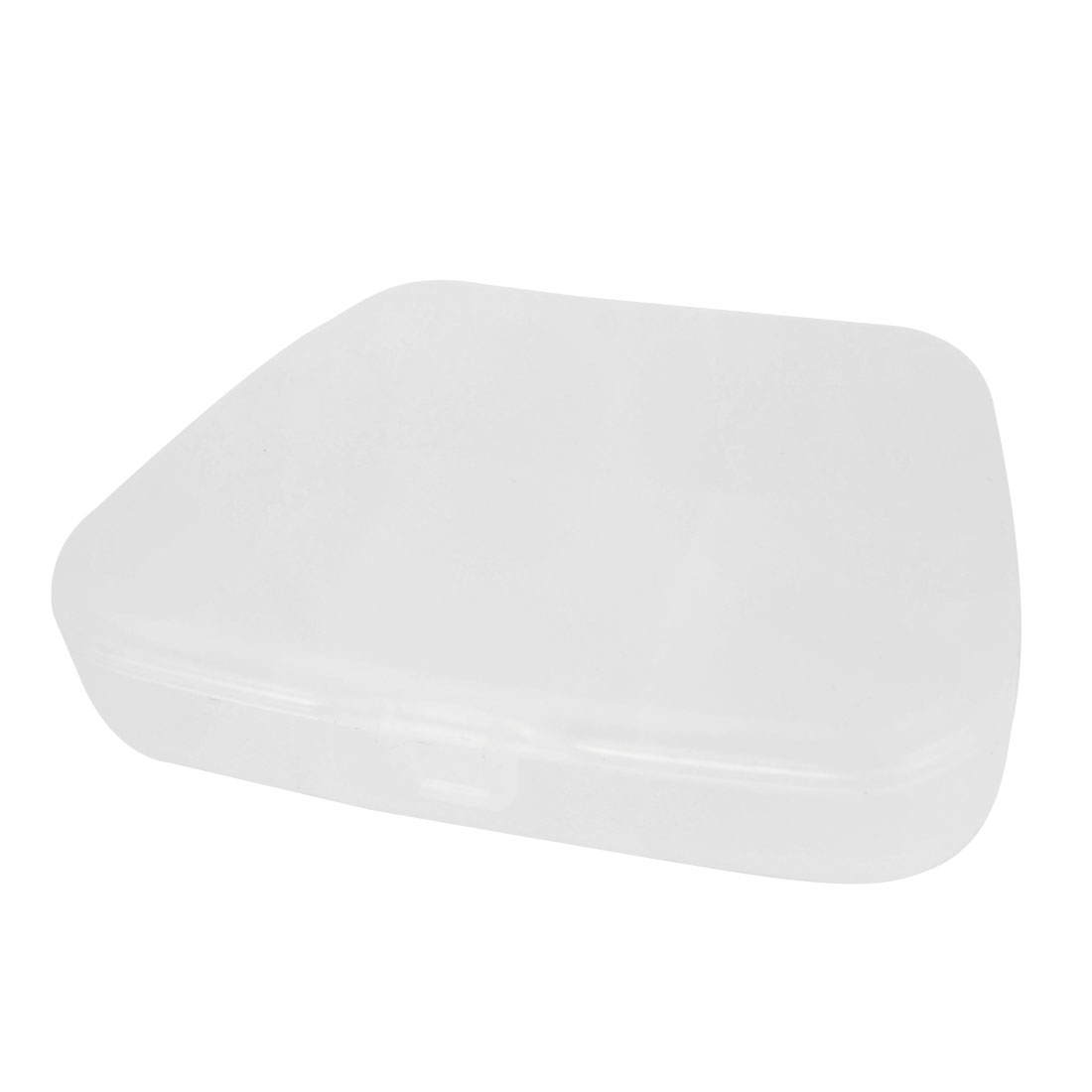 Home Travel Clear White Plastic Capsules Pills Storage Box Container