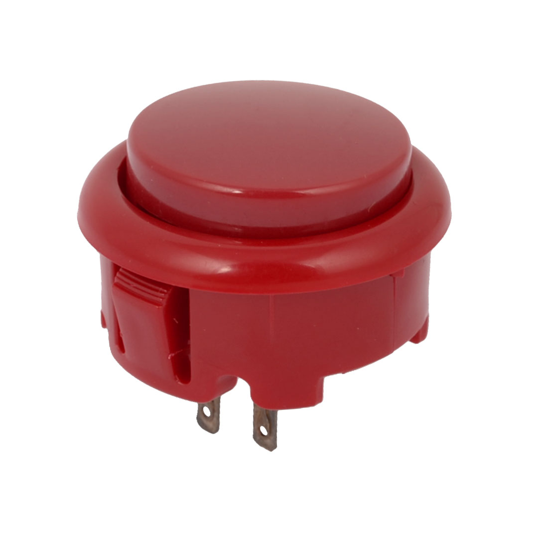 Arcade Games Momentary Push Button 25mm Dia Red AC 250V 1.5A