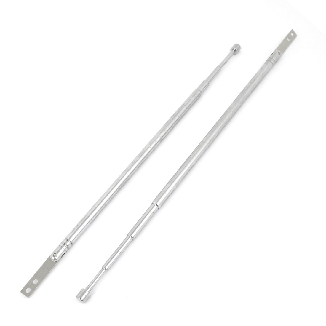 2 Pcs Radio Control TV Stainless Steel Telescopic Antenna Remote Aerial Replacement 57cm Length 4 Sections