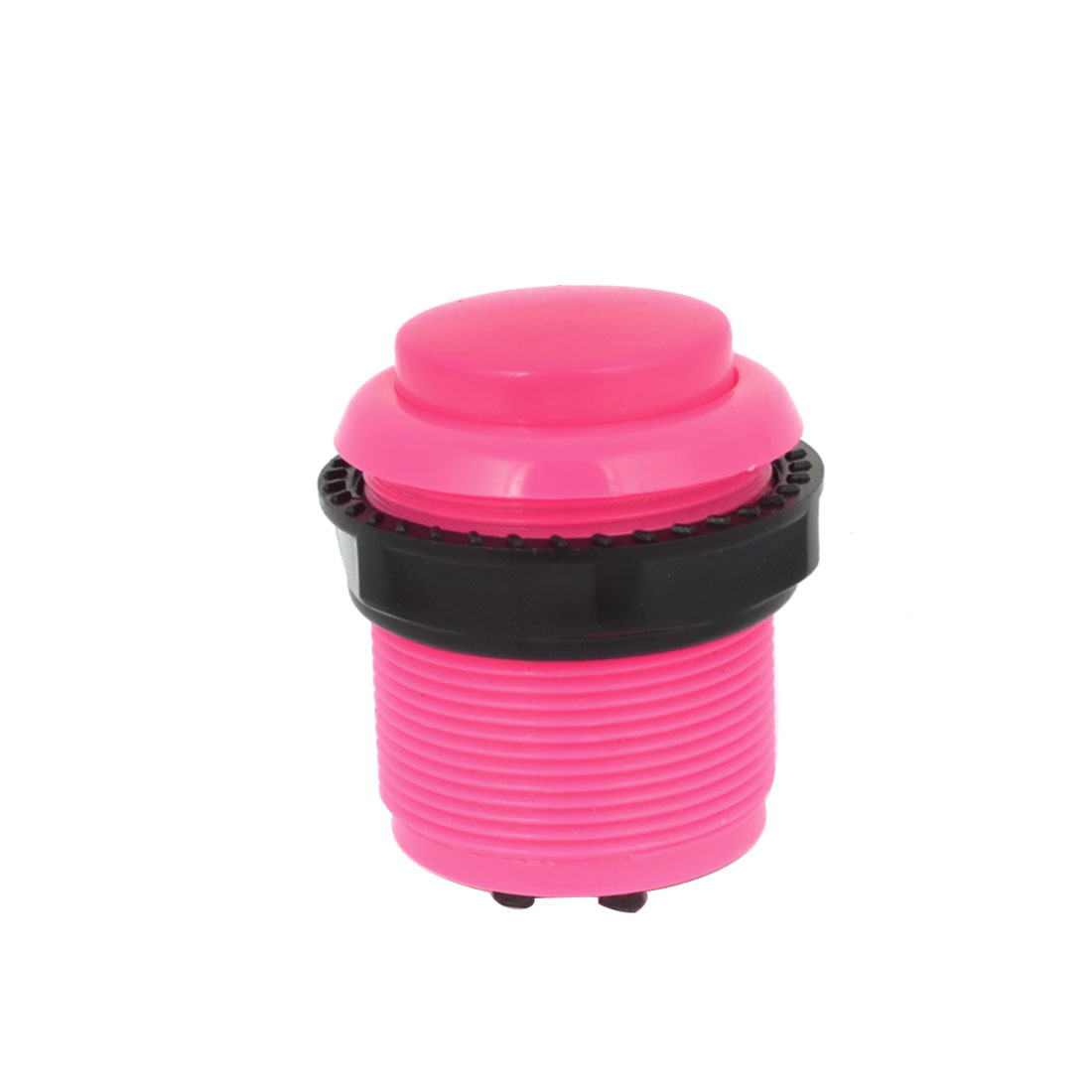 Arcade Games 2 Terminals Momentary Push Button 20mm Pink AC 250V 1.5A