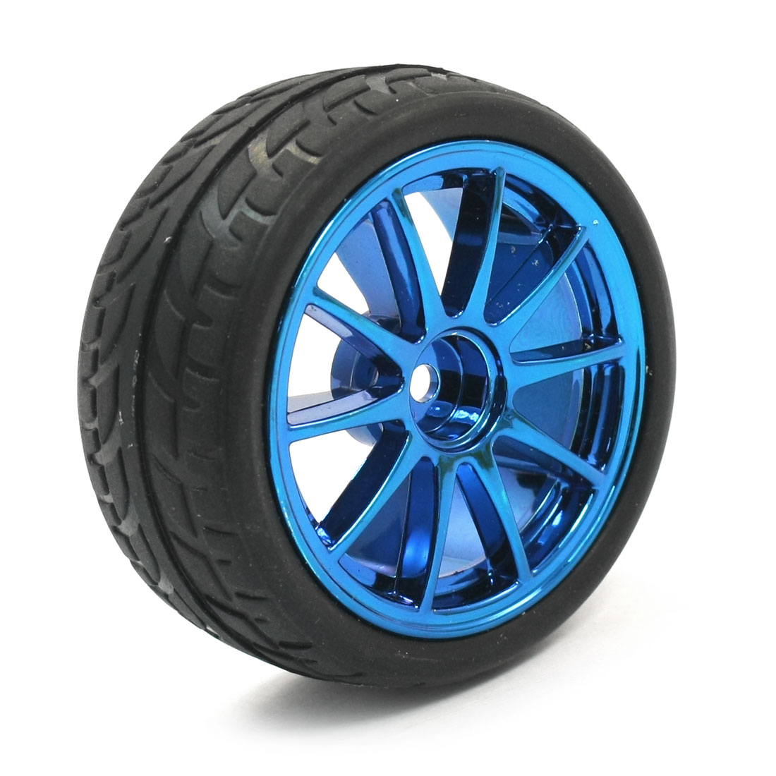 RC Smart Cars Robot On Road DIY Parts 65mm 1:10 Tire Wheel Rim Blue