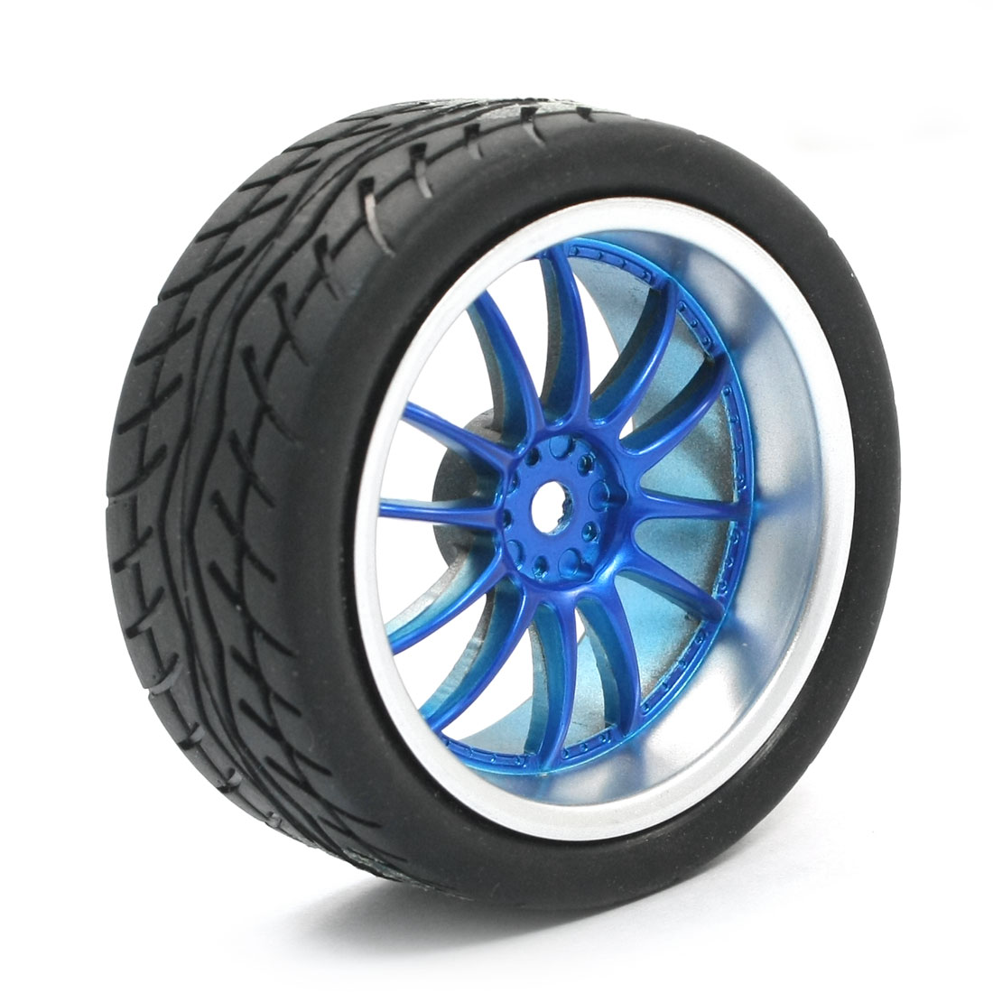 RC Smart Cars Buggy DIY Spare Parts 1:10 Drift Wheel Tire Blue