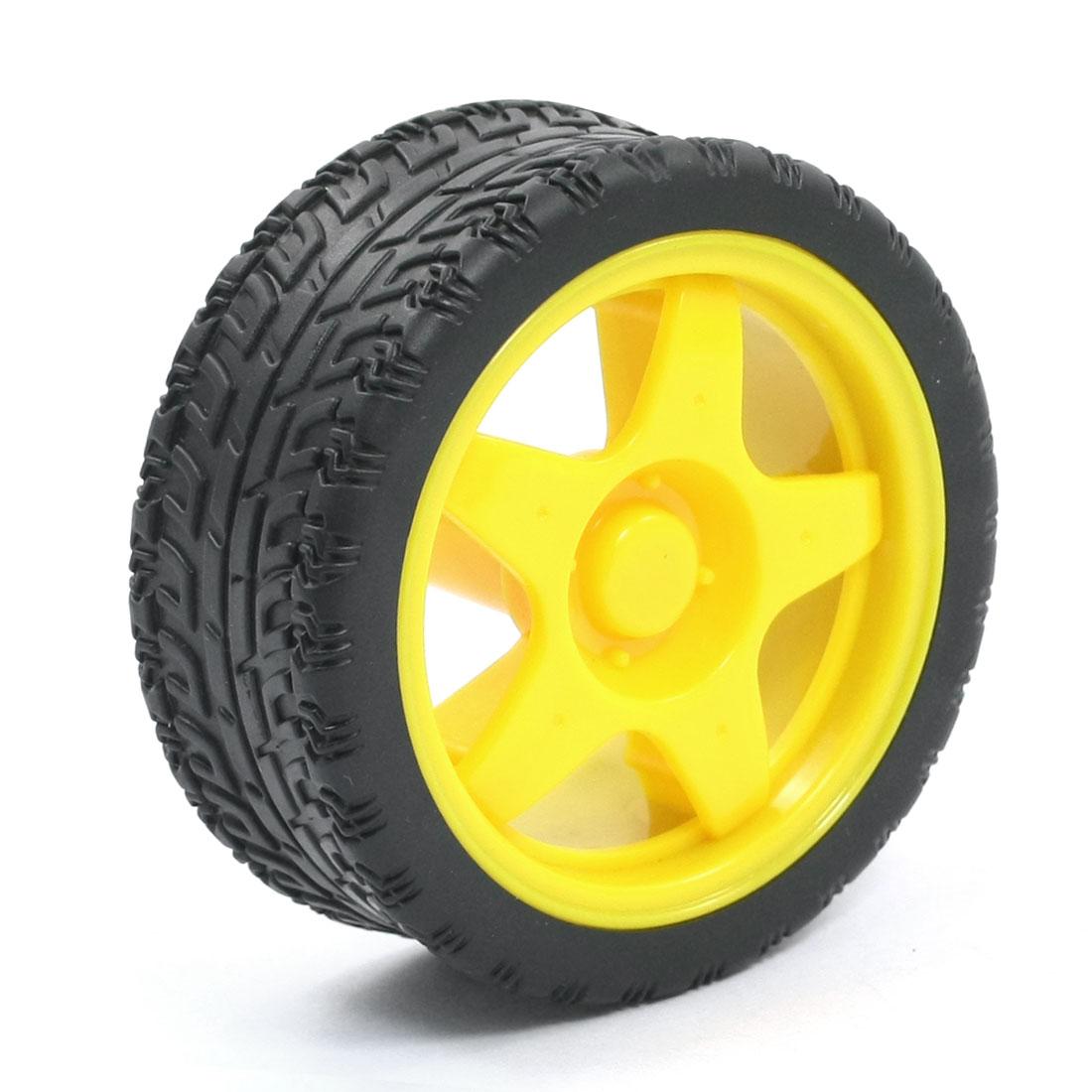 RC Smart Cars Truck Parts Yellow Plastic Hub 1:10 Drift Wheel Tire