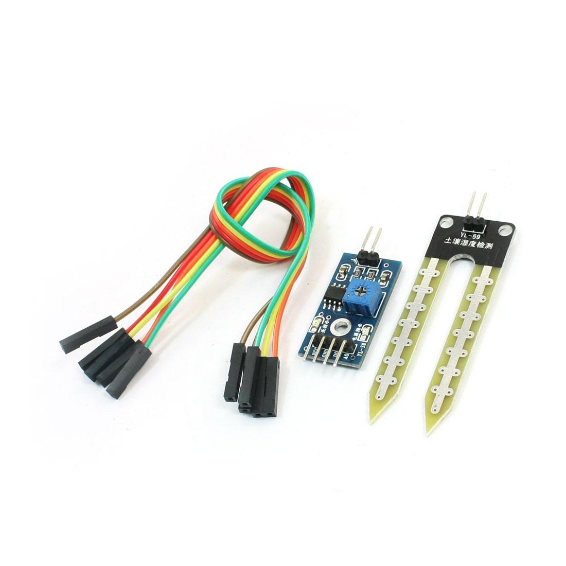 LM393 Chip Soil Humidity Detection Sensor Module Board DC 3.3-5V