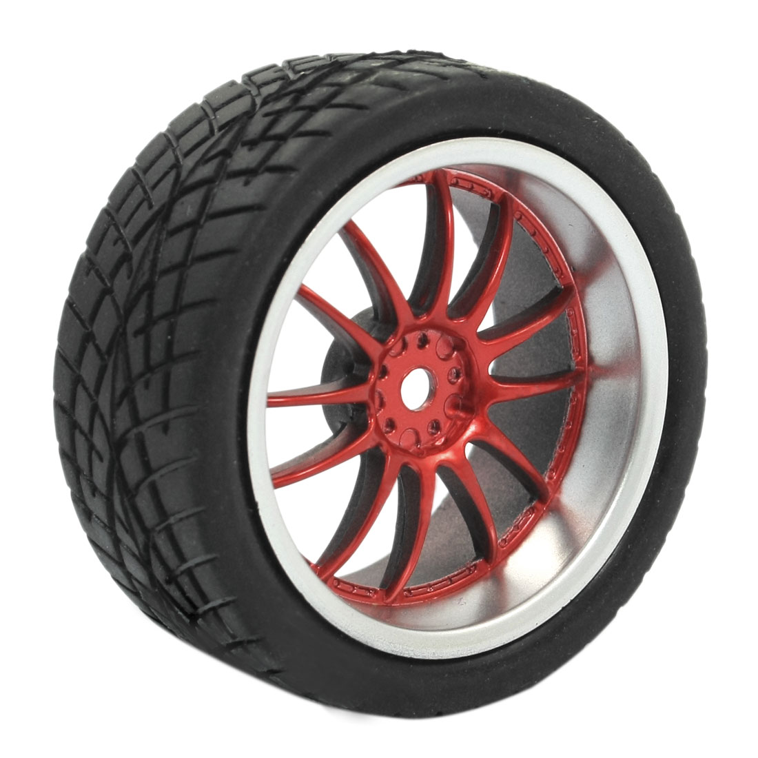 RC Model Smart Cars Off Road Red 10 Spoke 1:10 Plastic Tire Wheel