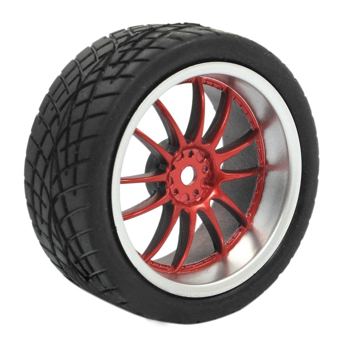 RC Model Smart Cars Off Road Red 10 Spoke 1:10 Plastic Tire Wheel