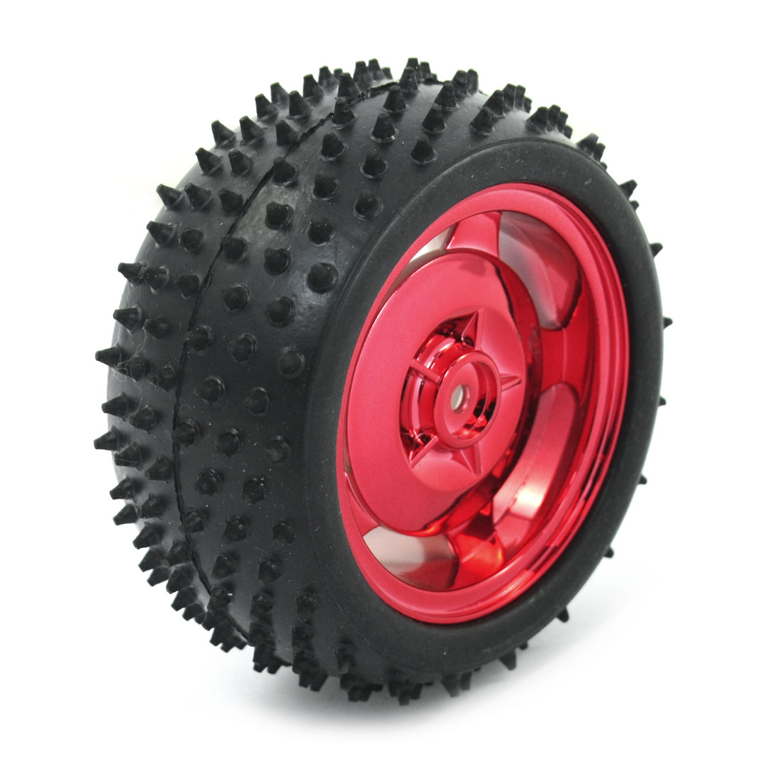 RC Cars Robot Truck Assembly Red Plastic 85mm Tire Wheel Rim