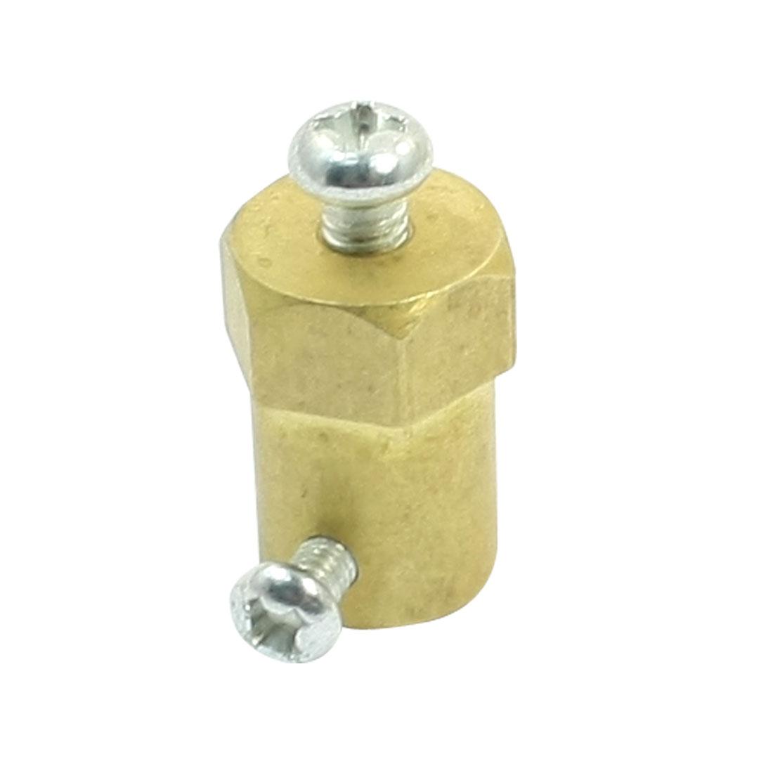 Gold Tone 5mm Shaft Smart Wheels DC Gear Motor Hex Coupling Coupler