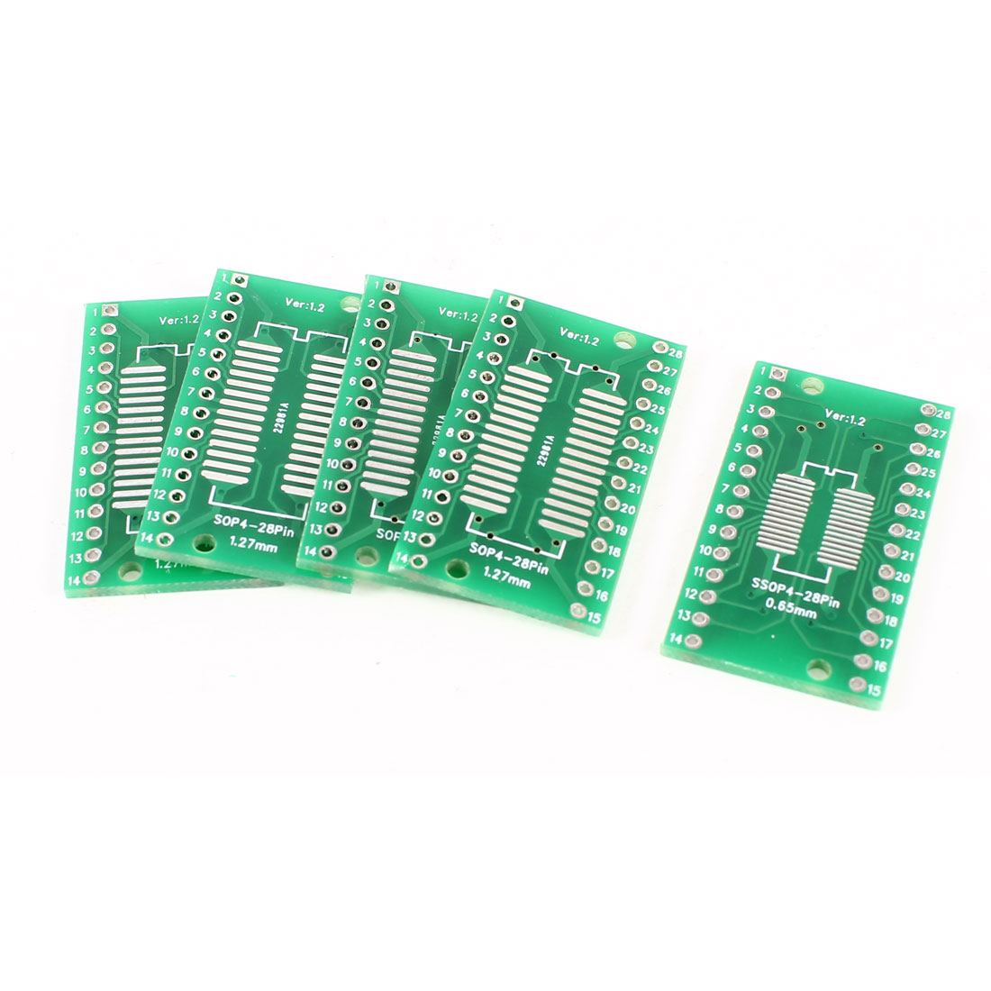 5 Pcs QFN32 QFP32 0.8mm 0.65mm Pitch DIP Double Side TFT LCD Testing FPC Adapter Board