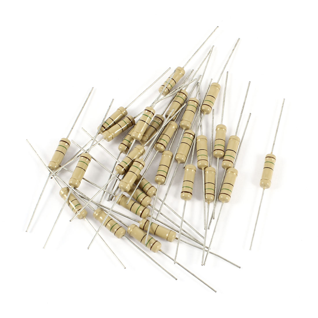 30 Pcs 2 Watt 15 Ohm 5% Tolerance Resistance Metal Oxide Film Resistor Axial Lead