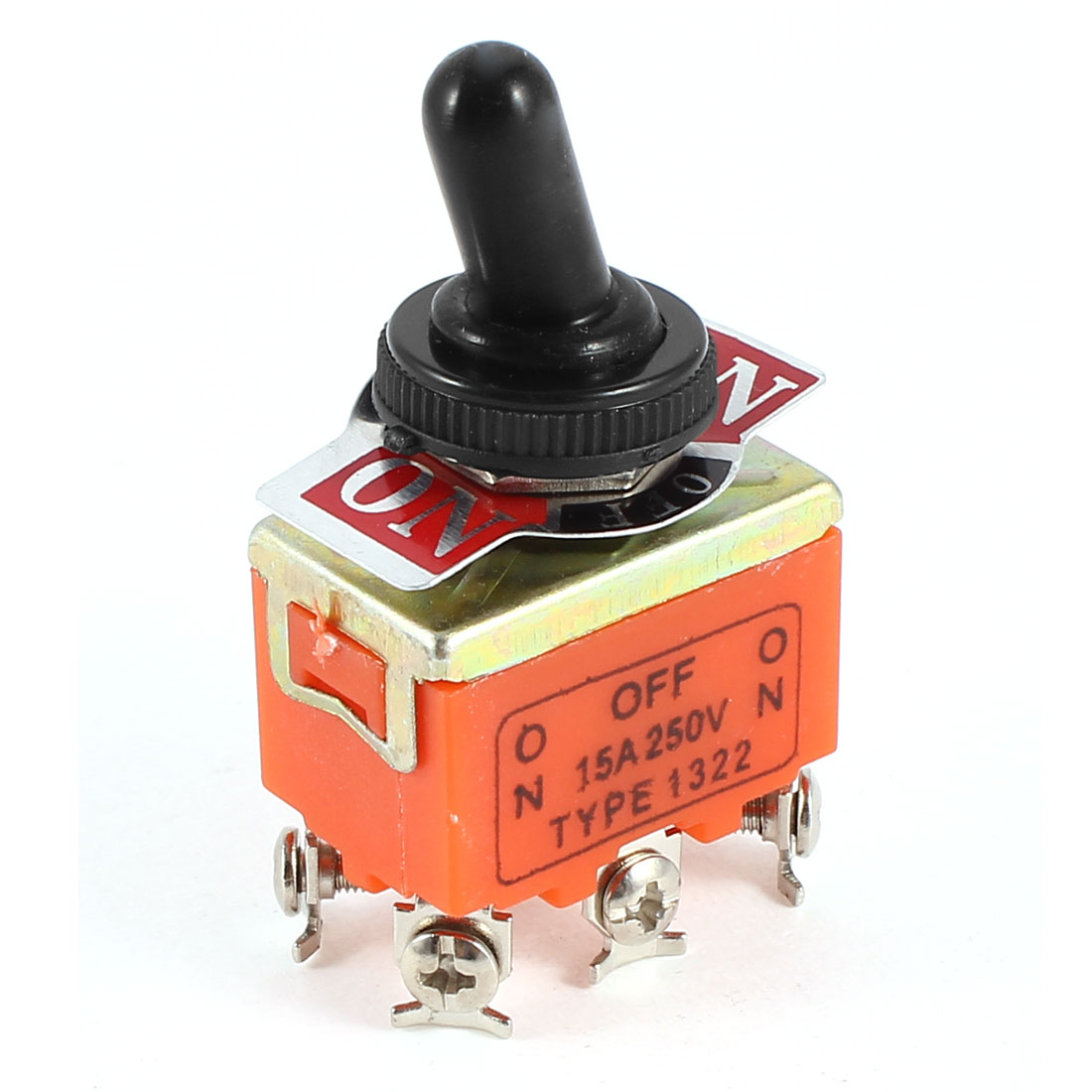 AC 15A 250V ON/OFF/ON 3 Position DPDT Latching Action Toggle Switch