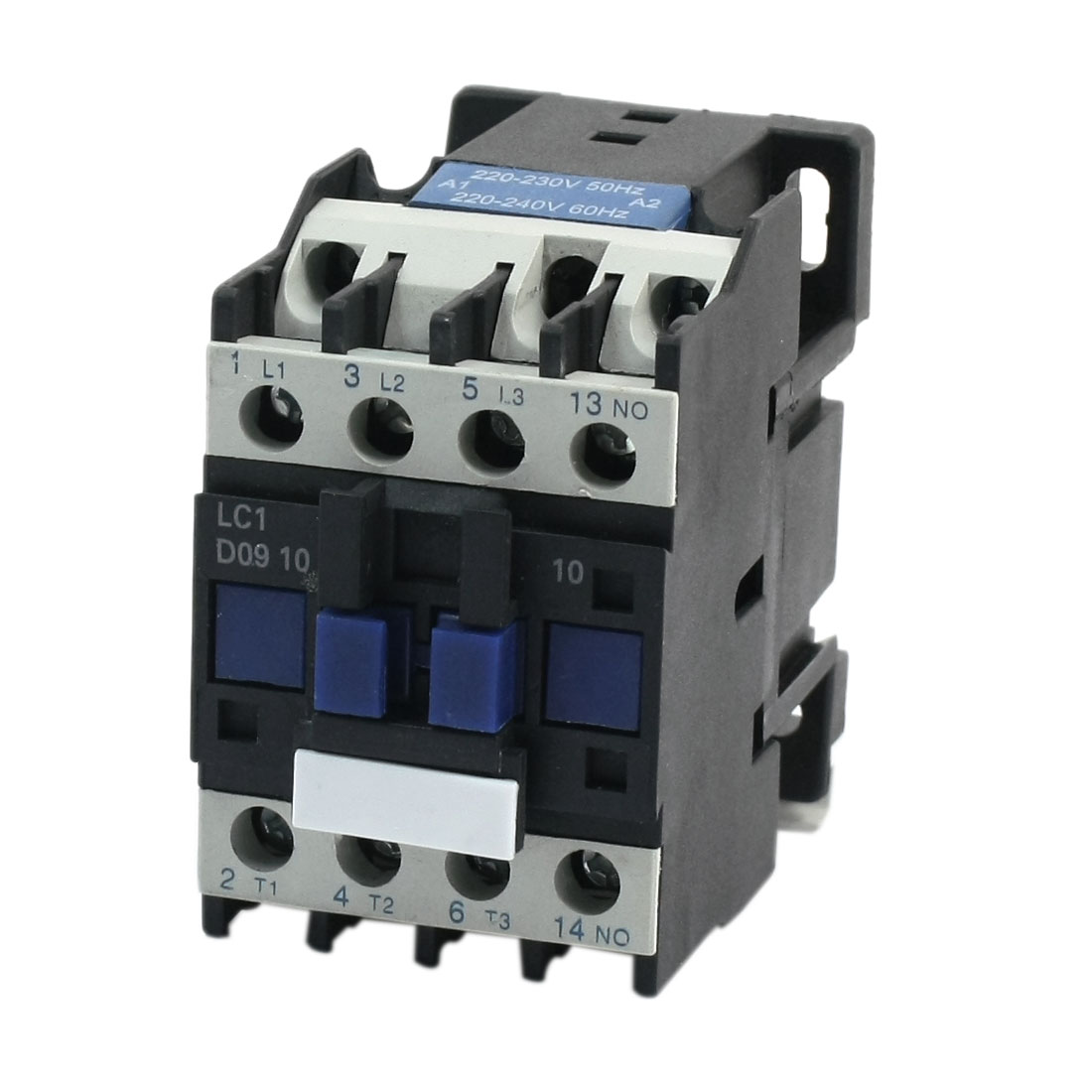 LC1-D09 AC 220V Coil 35mm DIN Rail Mounting 11 Screw Terminals 3-Phase 3-Pole Electric Power Contactor