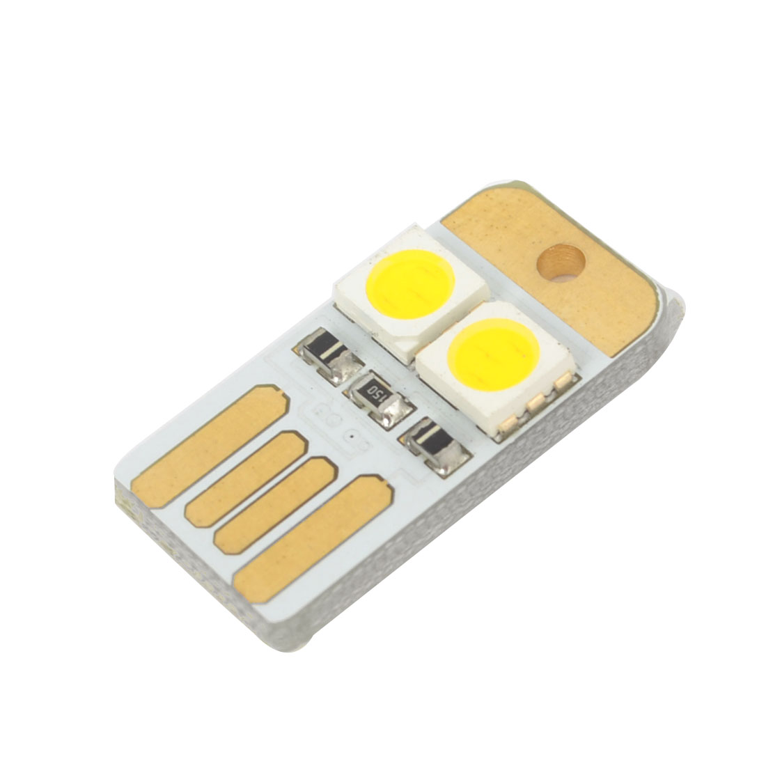 USB Port LED White 2 LEDs 5050 SMD Night Light Board Lamp for Laptop Computer