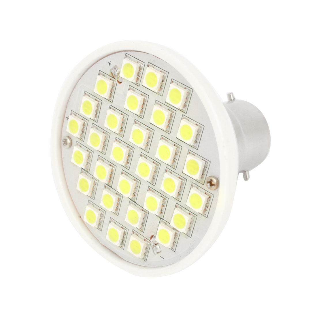 3W AC 220V White 3528 SMD 30 LED Energy Saving Light Spotlight Bulb B22