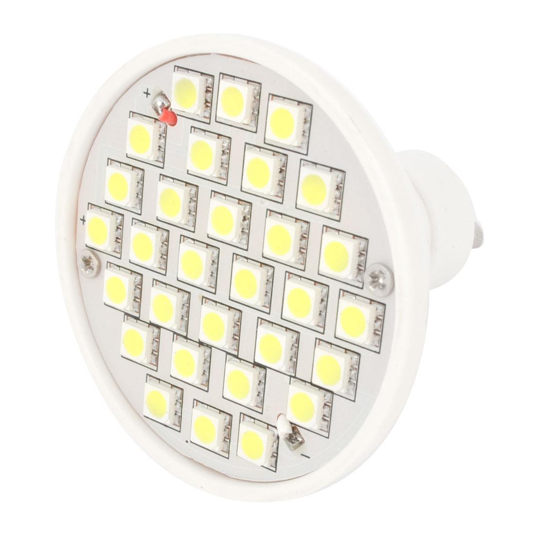AC 220V White 30 3528 SMD LED Spot Light Energy Saving Bulb GU10 3000K 3W