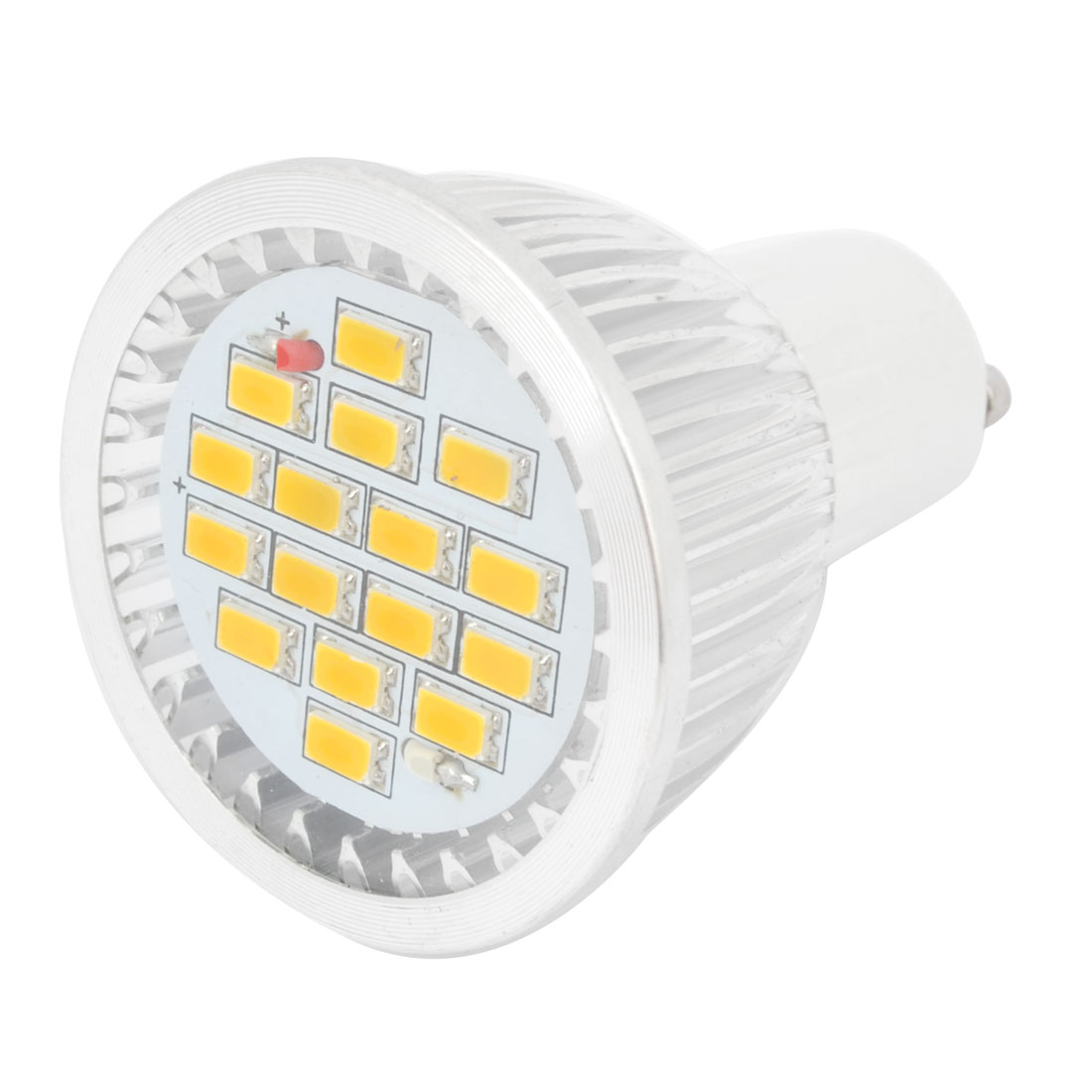AC 220V GU10 Base 16 3528 SMD 3W Warm White LED Down Light Spotlight Bulb