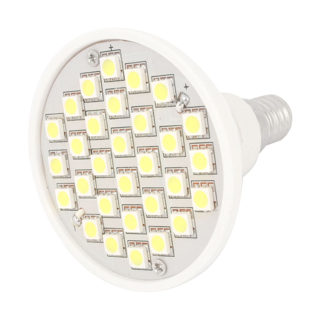 AC 220V E14 Base 30 3528 SMD LED White Spot Light Energy Saving Bulb Lamp 3000K 3W