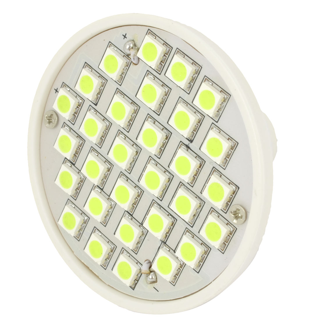 AC 220V White 30 3528 SMD LED Spot Light Energy Saving Bulb MR16 3000K 3W