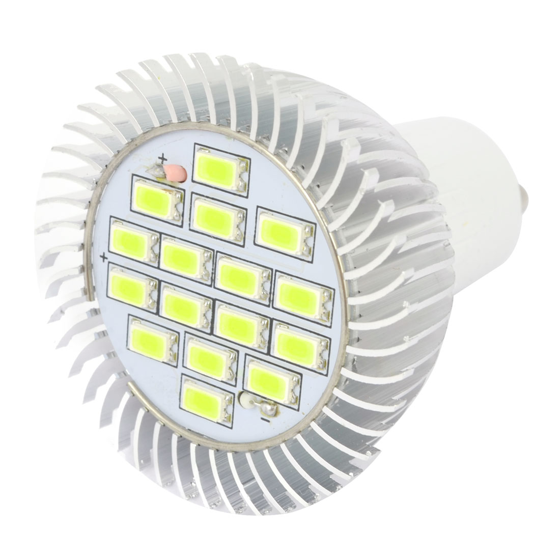 Home Indoor GU10 6W 16 LED Bright Pure White Spotlight Lamp AC 220V